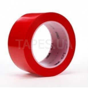 Виниловая разметочная лента 3М 471 скотч на основе ПВХ с каучуковым клеем, красная (50мм х 33м х 0,13мм)