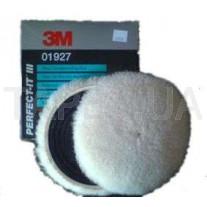 Шерстяной многоразовый полировальник 3М 01927 Perfect-It™ lll для пасты №1 и №2, 132 мм, на полировальную машинку