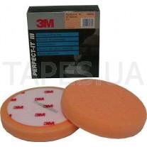 Оранжевый многоразовый поролоновый полировальник 3М 09550 Perfect-It™ lll для пасты №1 и №2, 150 мм, на полировальную машинку