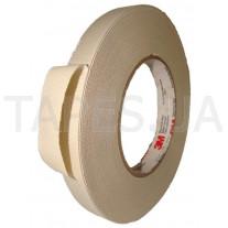 Стеклотканевая лента 3M 27 (9мм Х 55м), белая, резиновый термоусаживаемый клей, 150 C, 3000 В