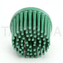 Зачистной круг 3М 07530 Bristle с креплением Roloc, зеленый, диаметр 25 мм, градация - грубый, диск-щётка 50