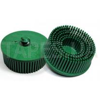 Зачистной круг 3М 07524 Bristle с креплением Roloc, зеленый, диаметр 50 мм, градация - грубый, диск-щётка 50