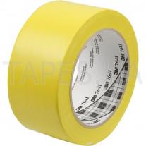 Разметочная виниловая лента 3М 764I на основе ПВХ, желтая (50мм х 33м х 0,13мм)