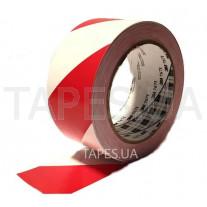 Разметочная виниловая лента 3М 767I скотч красно-белый на основе ПВХ с каучуковым клеем, для предупредительной разметки, маркировки (50мм х 33м х 0,125мм)