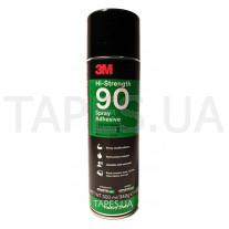 Клей 3M 90 аэрозольный для резины, винила, кожи, суперпрочный Hi-Strength Spray 500 мл