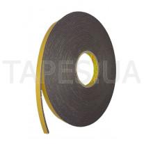 Двусторонняя клейкая лента 3M 9556В, скотч из вспененного полиэтилена для фасадных панелей, керамогранита, алюминия, оцинковки, толщина ленты 3мм