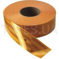 Желтая светоотражающая самоклеящаяся лента 3М Diamond grade, размер 55мм х 50м