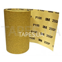 Абразивная бумага в рулоне 3М 04399 без пылеотвода, золотой, 255P, P100, 115mmx1m