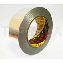 Алюминиевый Скотч 3M 1436 фольгированный термостойкий (50мм х 50м х 0,075мм)