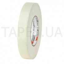 Лента 3M из ацетатного волокна 28 (19мм Х 66м), белая, резиновый термоусаживаемый клей, 105 С, 2500 В
