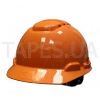 Оранжевая каска 3M H-700C-OR с вентиляцией, штифтовая застежка