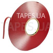 Двухсторонний профессиональный скотч 3М 4918F VHB прозрачный вспененная акриловая основа, толщина ленты 2мм, 150/90 °С