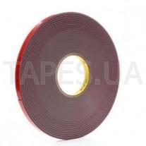 Двухсторонний скотч 3М 4941F лента премиум класса VHB+, серый эластичный Scotch, толщина 1,1 мм, 150/90 °С