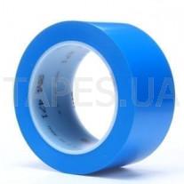Виниловая разметочная лента 3М 471 скотч на основе ПВХ с каучуковым клеем, синий цвет (50мм х 33м х 0,13мм)