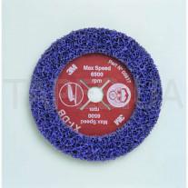 Фибровый круг 3М 05817 Clean and Strip под болгарку XT-DB, пурпурный, диаметр 178 мм х 22 мм