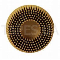Зачистной круг 3М 07525 Bristle с креплением Roloc, желтый, диаметр 50 мм, градация - средняя, диск-щётка 80