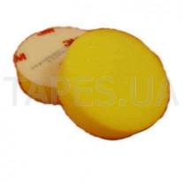 Многоразовый желтый поролоновый полировальник 3М 09996 на липучке, диаметр 75 мм