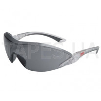 Защитные очки с козырьком 3М 2841, комфорт, темные