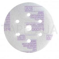 Абразивный микротонкий диск (круг) 3М 50241 Hookit™, белый, 260L, LD 601A, P800, диаметр 150 мм, 7 отверстий