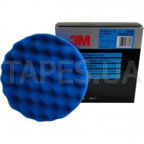 Синий ультратонкий многоразовый поролоновый полировальник 3М 50388 Perfect-It™ lll для пасты 3М Ultrafina 50383, 150 мм, на полировальную машинку