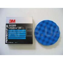 Синий полировальник 3М 50389 Perfect-It™ lll для антиголограммной пасты Ultrafina 50383, 203 мм, на полировальную машинку