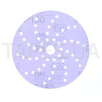 Абразивный диск (круг) 3М 50527, Hookit, 734U, конфигурация LD051A, диаметр 150 мм, Р180