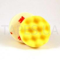 Желтый многоразовый поролоновый полировальник 3М 50536 Perfect-It™ lll для пасты 80349, 75 мм, на полировальную машинку