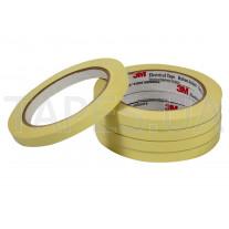 Полиэстеровая лента 3M 56 (15мм Х 66м), жёлтая, резиновый термоусаживаемый клей, 130 C, 5500 В