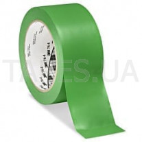Клейкая разметочная виниловая лента 3М 764I на основе ПВХ, зеленая (50мм х 33м х 0,13мм)