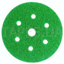 Абразивный диск (круг) 3М 80352/01689 Hookit™, зеленый 245, 601А, Р80, диаметр 150 мм, 7 отверстий
