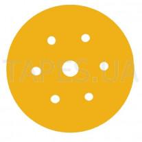 Абразивный диск (круг) 3М 80357 Hookit™, золотой, 255Р LD 601A, Р120, диаметр 150мм, 7 отверстий
