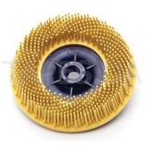 """Зачистной круг 3М 07581 Bristle для зачистки под """"болгарку"""", желтый, диаметр 115 мм, М14, градация - средний, диск-щётка 80"""