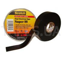 Изолента 3M Scotch™ Super 88 высшего класса всепогодная поливинилхлоридная (ПВХ) особо прочная (19мм x 20,1м x 0,22 мм)