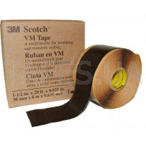 Изоляционная лента 3M Scotch™ VM Tape винило-мастичная (38мм х 6м х 0,635мм)