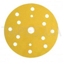 Абразивный диск (круг) 3М 50446 Hookit™, золотой, 255Р+ LD 861A, Р150, диаметр 150мм, 15 отверстий