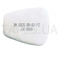 Противоаэрозольный предфильтр 3M 5925 от пыли и аэрозолей для респираторов серии 6000 / 7500, уровень защиты Р2