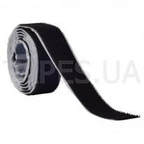 Контактная лента велкро самоклеющаяся 80004 (грибок) черный цвет 20мм
