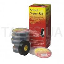 Изолента 3M Scotch™ Super 33+ высшего класса всепогодная поливинилхлоридная ПВХ самозатухающаяся (19мм x 20,1м x 0,18 мм)