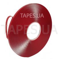 Двусторонний гелевый скотч Scapa AS1160 на акриловой основе повышенной прочности, прозрачный, 6мм х 33 м х 1 мм, аналог 3М 4910