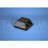 Квадратный бампер BS-3 черный цвет, H=5,8мм, D=12,7мм, BS Inc.