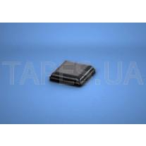 Квадратный бампер BS-20 черный цвет, H=2,5мм, D=10,2мм, BS Inc.