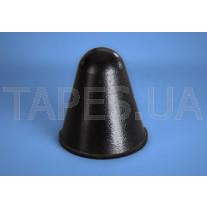 Конический бампер BS-57 прозрачный, черный цвет, H=22,5мм, D=20,0мм, Bumper Specialties Inc
