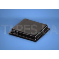 Квадратный бампер BS-36 черный цвет, H=4,6мм, D=25,4мм, BS Inc.