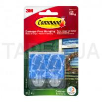 Дизайн крючок 3М Command 17091 уличный, прозрачный, средний (макс. нагрузка 900 г)