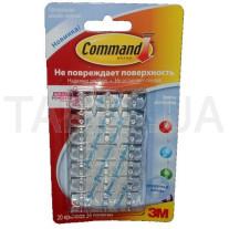 Клипсы для гирлянд 3М Command 17026 прозрачные/белые 20 шт.