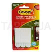 Легкоудаляемые Command 3M 17201 сцепляемые клейкие застежки для рамок, картин, пенокартона, средние (нагрузка 1,3 кг), 4шт.