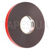 Клейкая двухсторонняя лента MONTEX SHS 5023 серого цвета, акриловая, толщина 0,8мм, длина 33м, 80/120С
