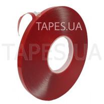 Двусторонний скотч (клейкая лента) Scapa AS1130 на акриловой основе повышенной прочности, прозрачный, 6мм х 33 м х 0,64 мм, аналог 3М 4905