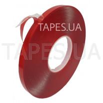 Двусторонний скотч (клейкая лента) Scapa AS11B0 на акриловой основе повышенной прочности, прозрачный, 12мм х 20 м х 1,5 мм, аналог 3М 4915