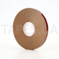 Клеепереносящий скотч 3М 924, прозрачный, 12мм х 33м х 0,05мм, без основы, исключает просачивание сквозь бумагу, 120/80  °С